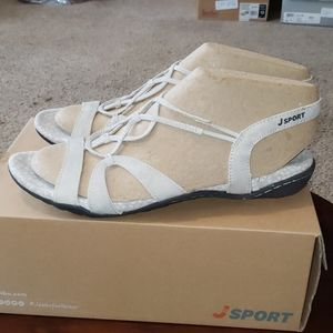 J Sport Jambu April Sandals sz 11 Light Gray Flats